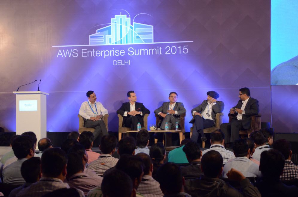 Pronam Chatterjee in Discussion Panel at AWS Summit 2015, Delhi