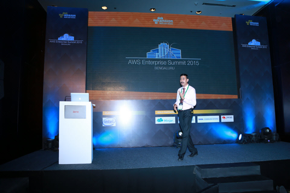 Pronam Chatterjee at AWS Summit 2015, Bangalore